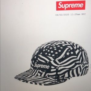 Supreme washed twill camp cap